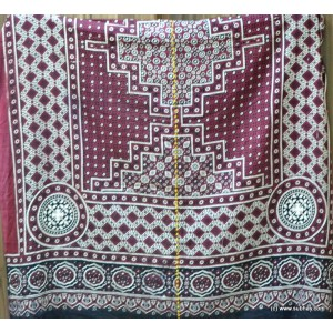 PURE COTTON HIGH QUALITY 2 PIECE BLOCK PRINTED SINDHI AJRAK SA-19 (ROSE & HASHA)